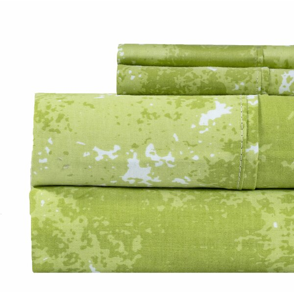 Seder Marble Print 400 Thread Count 100% Cotton Sheet Set by Ivy Bronx
